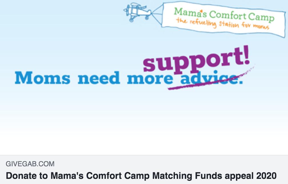 Mama's Comfort Camp GiveGab